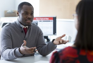 Academic coach talking